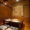 続き部屋としても使える、掘りごたつの個室を3部屋完備