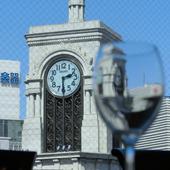 銀座の交差点、和光の時計台がすぐ目の前
