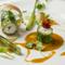 彩り豊かな『ヤガラと春キャベツのヴァプール ブイヤベースのソース』