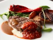 お肉の美味しさをダイレクトに味わえる『牛フィレのグリル焼き(150g)厳選野菜の付け合せ』