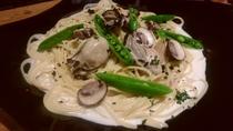 牡蠣のクリームパスタ