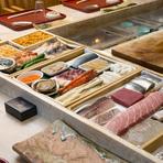 季節や食材の旬で、青森と築地から食材を入荷
