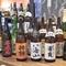 厳選した日本酒が20種類、他の酒類も豊富で好みの味が選べる
