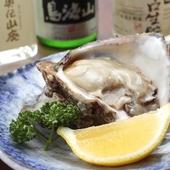 塩分が少なく、本来の味が楽しめる夏季限定の『牡蠣』
