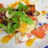 オマール海老のソテーと焼きトマト