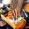 <おすすめ>フォアグラの握り寿司(2貫/バルサミコソース・おろしポン酢)