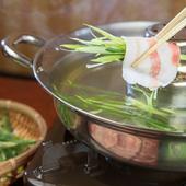 新鮮なお肉を、県産野菜といただく『あぐーしゃぶしゃぶ 』