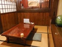 2Fの座敷です。個室としてご利用いただけます