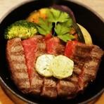 北海道大雪山系の伏流水に17種のハーブを餌に育った『十勝ハーブ牛』厳選もも肉のステーキ