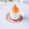 『イルフロッタントをイメージに烏龍茶のクリームに浮かべたメレンゲ、ピンクグレープフルーツのコンフィ』