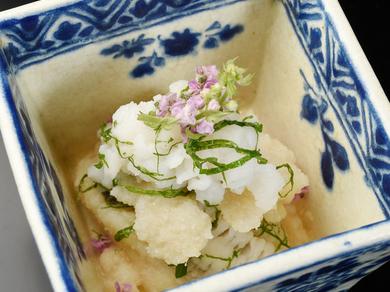 『鱧のきらず和え』※画像は一例です。季節に応じて食材や調理法は変わります。