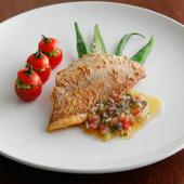 その日に仕入れた旬の魚を使用『本日のお魚料理(鯛のポワレ)』