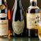 ボトルワイン、シャンパン、地酒などもラインナップ