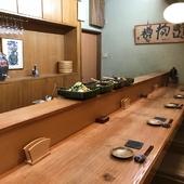 ゆったりとした空間で美味しい魚と日本酒を