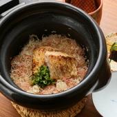 滋味深く、季節ごとの風味豊かな『甘鯛とみょうがのごはん(料理一例) 』