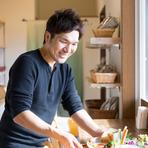 生産者の顔が見える、地場野菜を中心とした食材選び