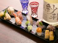 その日に食べたい旬のネタを店主に伝えて、その場で握ってもらえる『握り寿司』