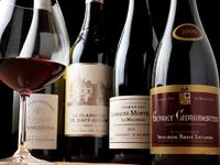 野菜本来の美味しさと相性のよいワインが勢ぞろい