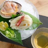 美味しい天然の地蛤をつかった、旨味たっぷりの『蛤うどん』
