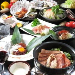 人気の魚に特化したコースで御座います。女子会や記念日・デート等様々なシーンでご利用頂いております。