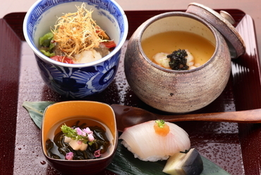 市場で見極め厳選した食材だけを使った、季節を感じる旬の味わい『壱の膳』(お昼のメニュー)
