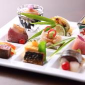 丁寧につくられた、彩りもバリエーションも豊かな料理。目でも愉しめる『弐の膳』