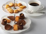 コースの最後に登場する焼き菓子、チョコレートなど5~6種の小菓子。内容は、季節によって変わります。