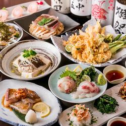 旬魚の『鯛』に『雲丹』のソースをかけた、贅沢素材を掛け合わせた逸品など拘りが詰まったお料理が全8品♪