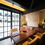 コースは4000円からVIPのおもてなし8000円までご用意しています。また飲み放題付コース(5000円)はご宴会に最適です。2階は30名様より貸切可能なフロアになっおります。歓送迎会などのご宴会にご利用ください。