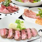 A5黒毛和牛ステーキとチキン!ダブルメインの全12品【ビストロコース4500円】(飲み放題120min付)