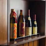 こだわりの厳選された焼酎や希少性の高い銘柄の日本酒などが豊富