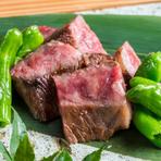 厳選した上質な和牛を使用した、和牛懐石コースのメイン料理『和牛ステーキ』(コースの一品)