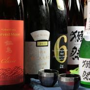 地酒.獺祭.鍋島.九平次.新政...日替わりの御飲物の御品書きも充実しております。豪華日本酒も多数お愉しみ頂ける、特選プレミアム飲み放題プランも御用意致しております。