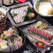 関あじや関さばをはじめとした魚介類や豊後牛、豊のしゃもなど、地元大分が誇る最高級食材を使用しています。もちろん他の野菜などの食材も、日本各地から、旬の新鮮なものばかり。厳選した国産食材が揃うお店です。
