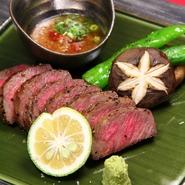 国産黒毛和牛最高峰・おおいた豊後牛を贅沢な炭火焼きに。旨味甘味抜群の味をお愉しみ下さい。