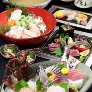 関あじ関さば・生雲丹、豊後贅沢鮮魚…百年の恵みおおいた和牛…京鴨の柚子鍋…。日替りの豪華食材をふんだんに使用し贅沢な料理の数々をご用意。歓送迎会等、会社・団体、各種御宴会から少人数でのお集まりまであらゆる贅沢なシチュエーションで御利用頂けます。+1000円でプレミアム飲み放題を御選択、より贅沢なメニューもお愉しみ頂けます。