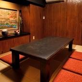 プライベート感の高い、3名~6名様用のお座敷個室をご用意