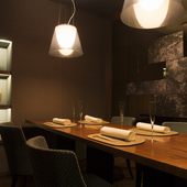 記念日ディナーに相応しい、洗練されたシックな空間