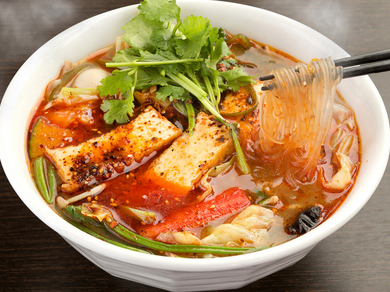 人気NO.1の『麻辣湯』辛さは0から5まで選べます!※追加トッピング+100円