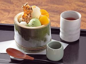 京都の一保堂の抹茶を使用した『おうす山椒ケーキ』