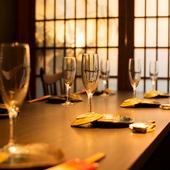 シックな空間、上質なお酒と料理でワンランク上のご宴会をご提案