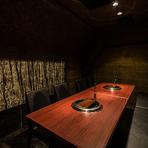 プライベートな空間でゆったりと過ごせる完全個室!