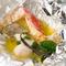ホイルで蒸し焼き『季節の魚のパピヨットバルーン仕立て』
