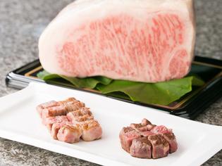 やわらかい肉質の『みかわ牛ゴールドA5サーロインステーキ』