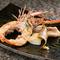 ヘルシーな油で焼き上げた『赤座海老と魚介の太白胡麻油焼き』