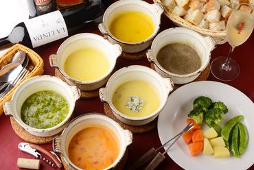スイス直輸入エメンタールチーズを使用した「チーズフォンデュ」