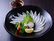 穴子は長崎産の最高品質のものを仕入れ。活き〆のものを新鮮なまま調理した絶品です。ポン酢と薬味で素材の美味しさを堪能。