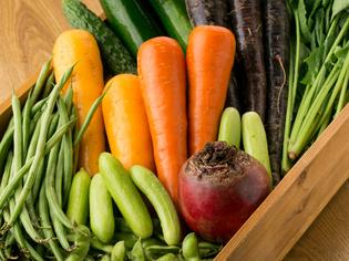 千葉県「サンバファーム」さんの、無農薬野菜を多彩に使用