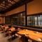 コース仕立ての日本料理を気取らず味わえるテーブル席