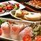 鮮魚に、旬の野菜に、創作料理! 豪華メニューが並んだ贅沢コース! 2.5時間飲み放題付き!!